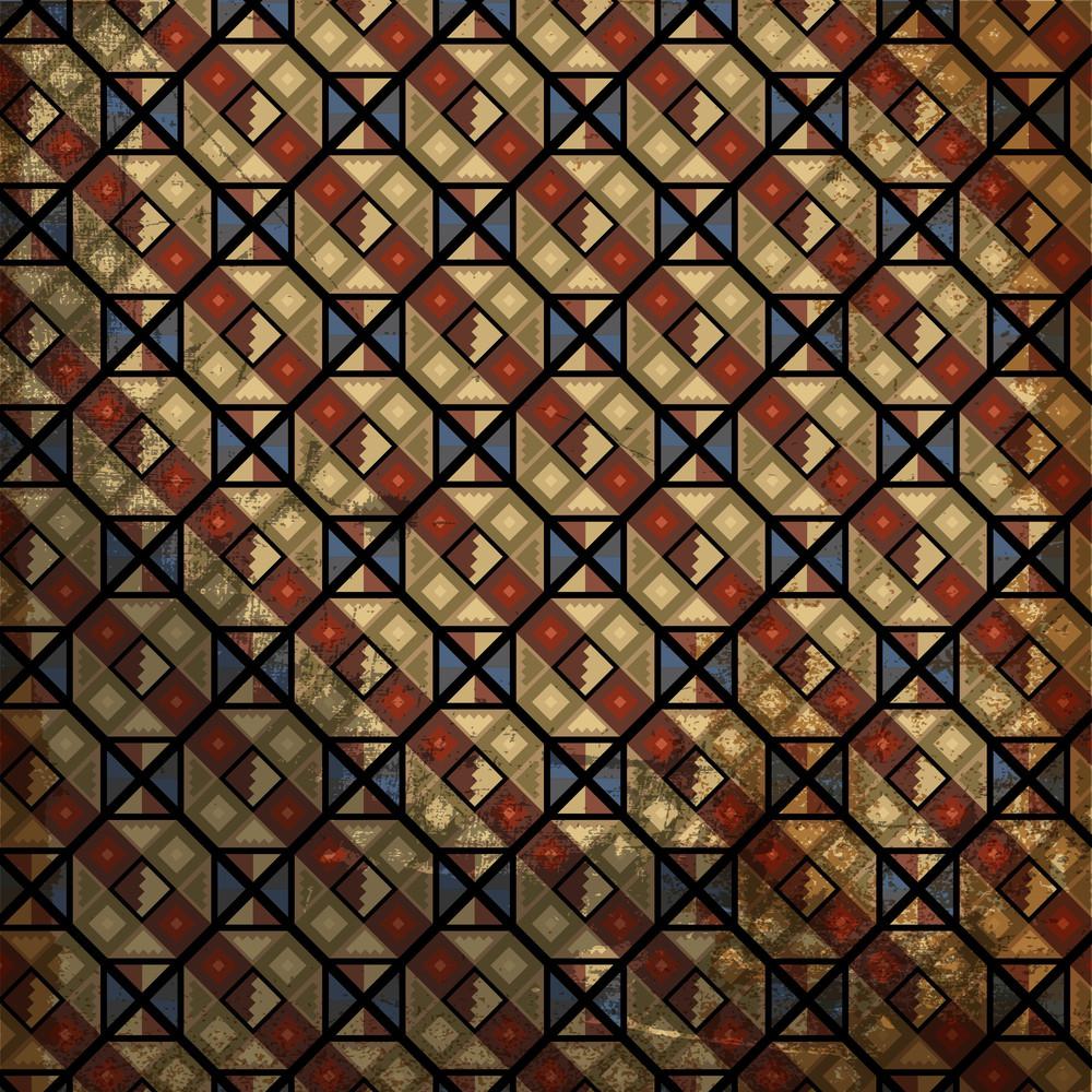 Grunge Inca Pattern. Vector Illustration