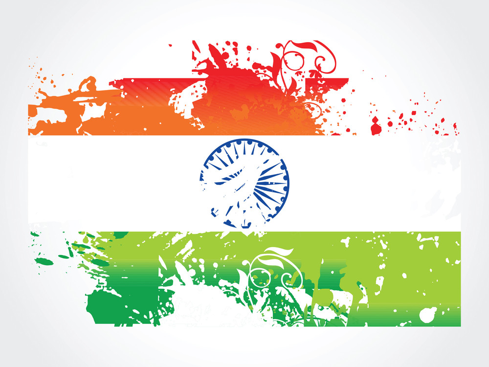 Grunge Indian Flag Vector