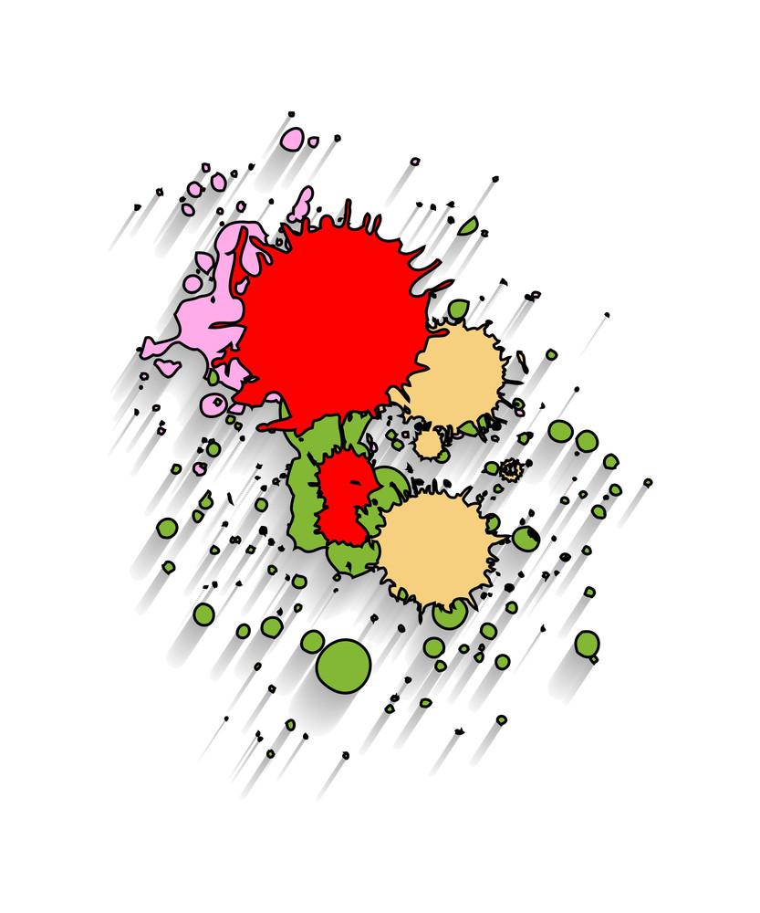 Grunge Ink Droplets