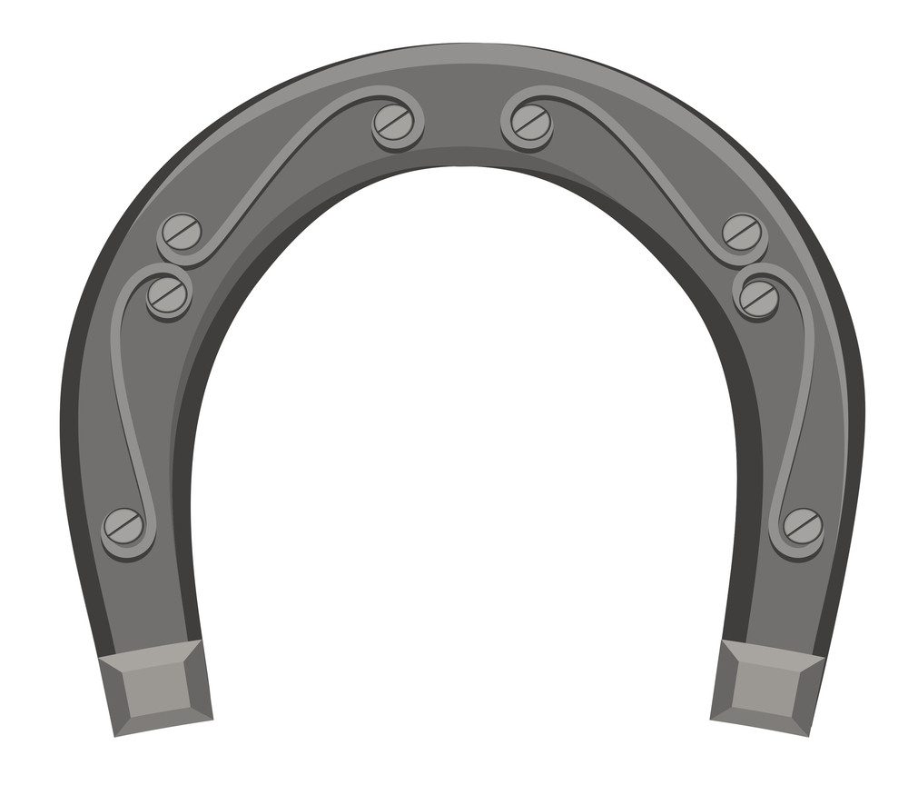 Grunge Iron Horseshoe Vector