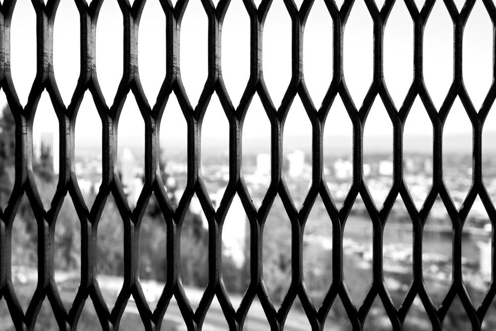 Grunge Lattice Window