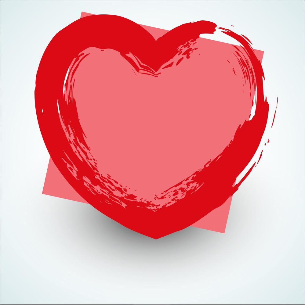 Grunge Love Heart Texture Banner