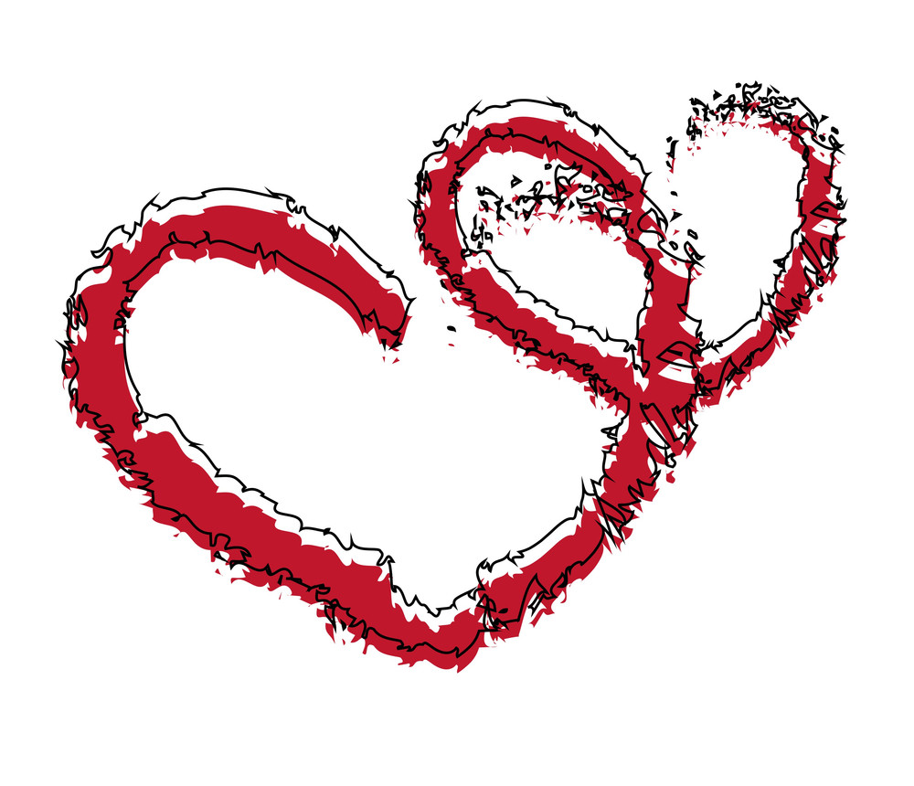 Grunge Love Hearts