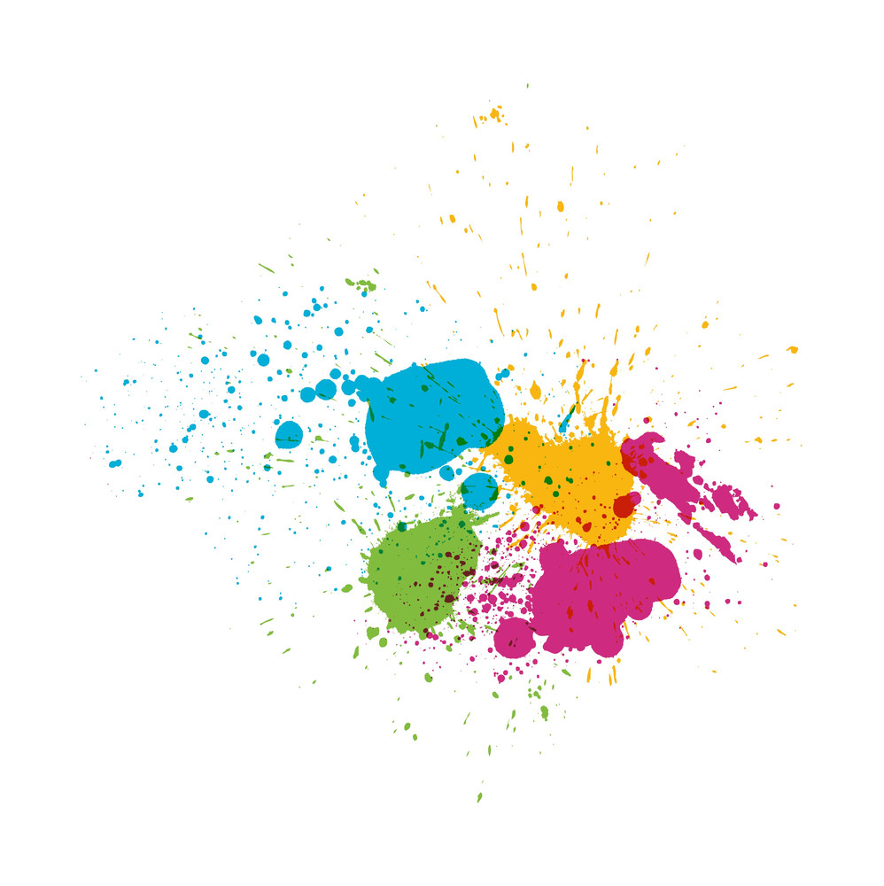 Grunge Paint Splashes
