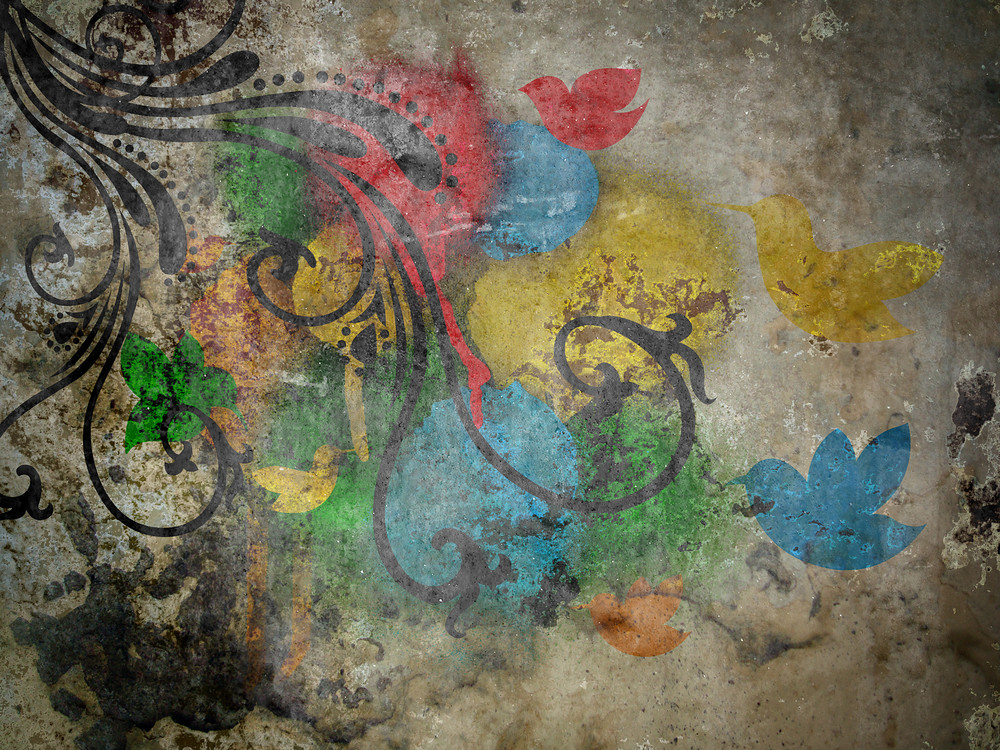 Grunge Painting On Wall