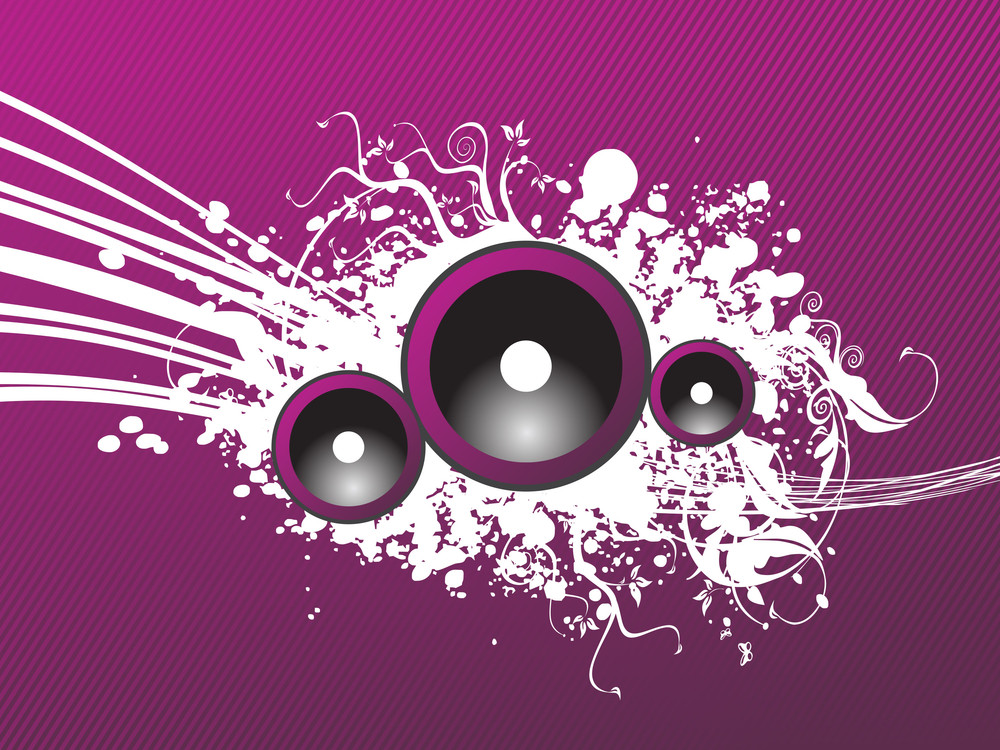 Grunge Purple Party Speaker