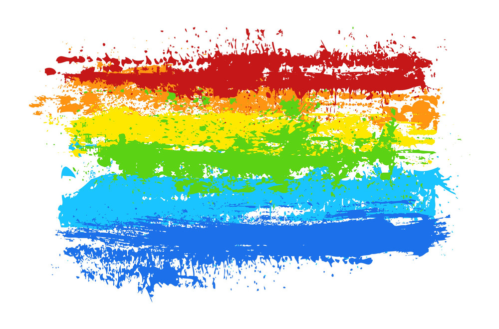 Grunge Rainbow Banner