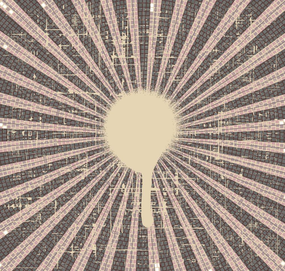 Grunge Rays Background Vector Illustration
