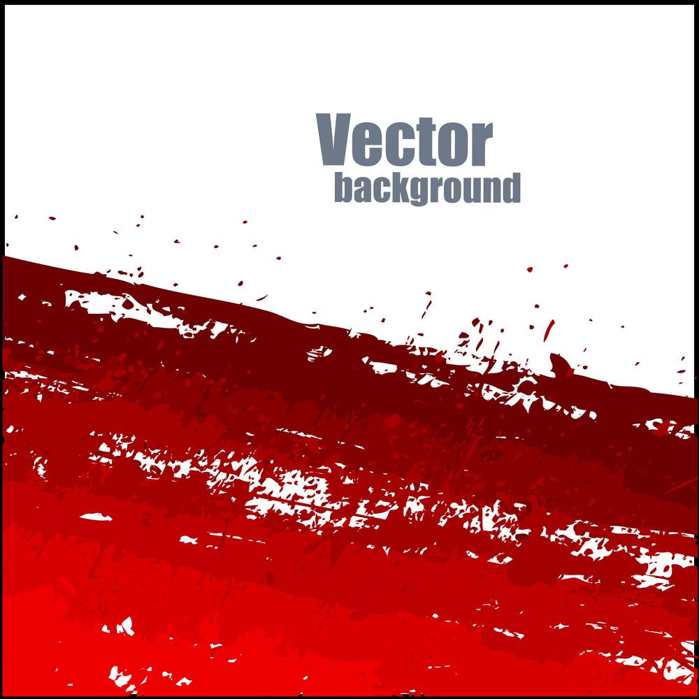 Grunge Red Splash Banner Vector