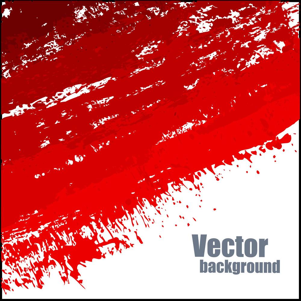 Grunge Red Splash Vector Banner Design