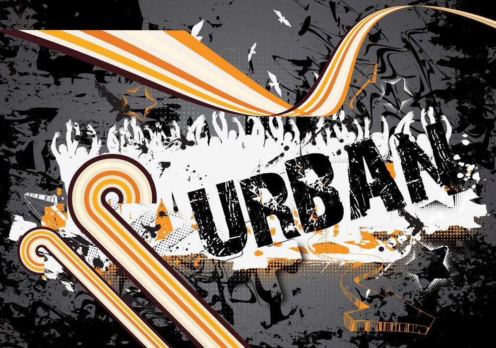 Grunge Retro Background Vector Illustration