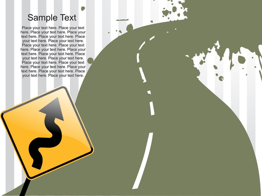 Grunge Road Background