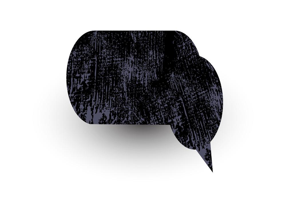 Grunge Rough Chat Bubble Texture