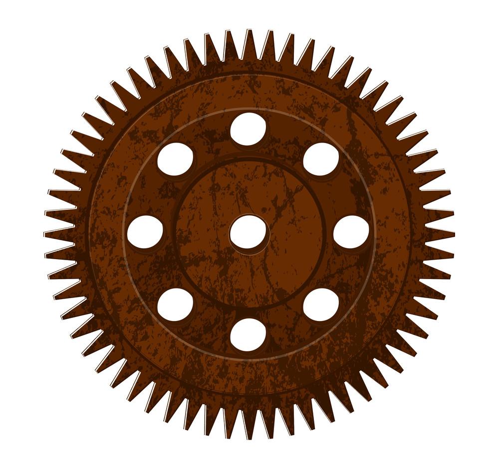 Grunge Rusty Gear Wheel