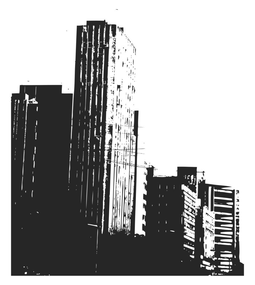 Grunge Skyline Background