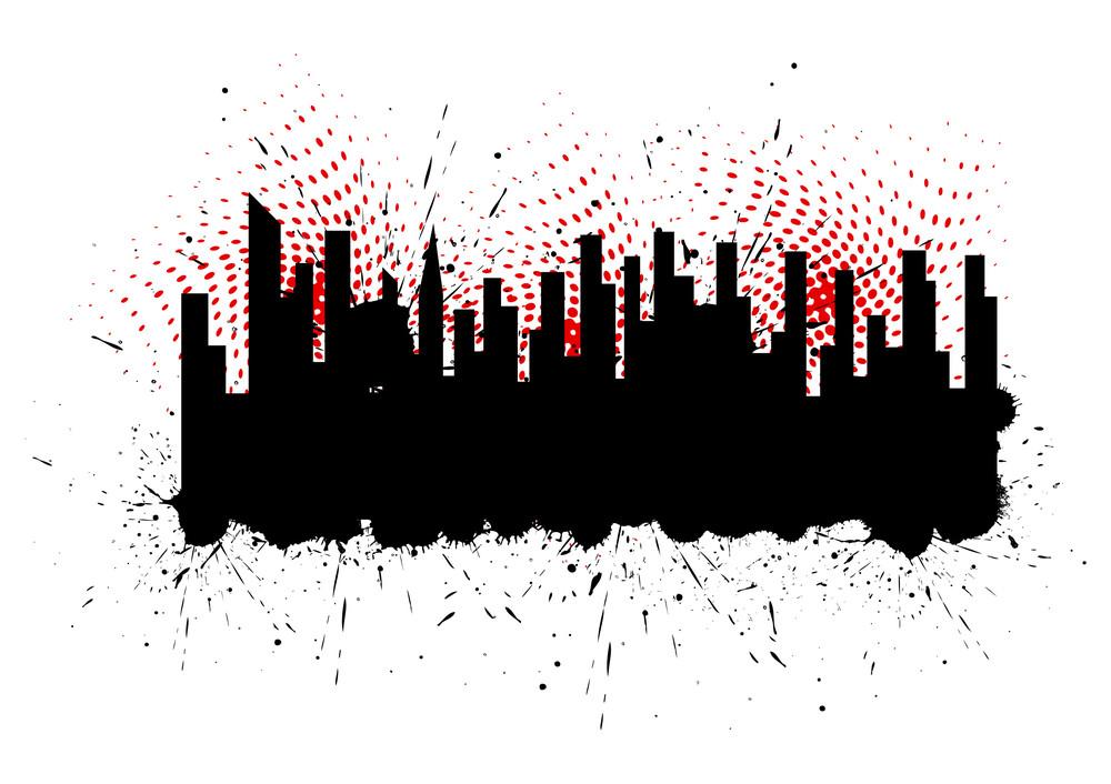 Grunge Skyline Silhouette