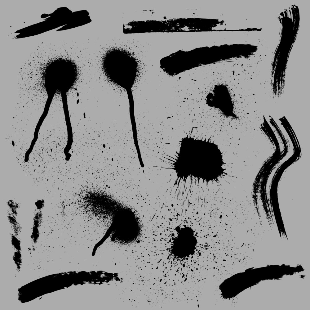 Grunge Spash And Stains Vectors