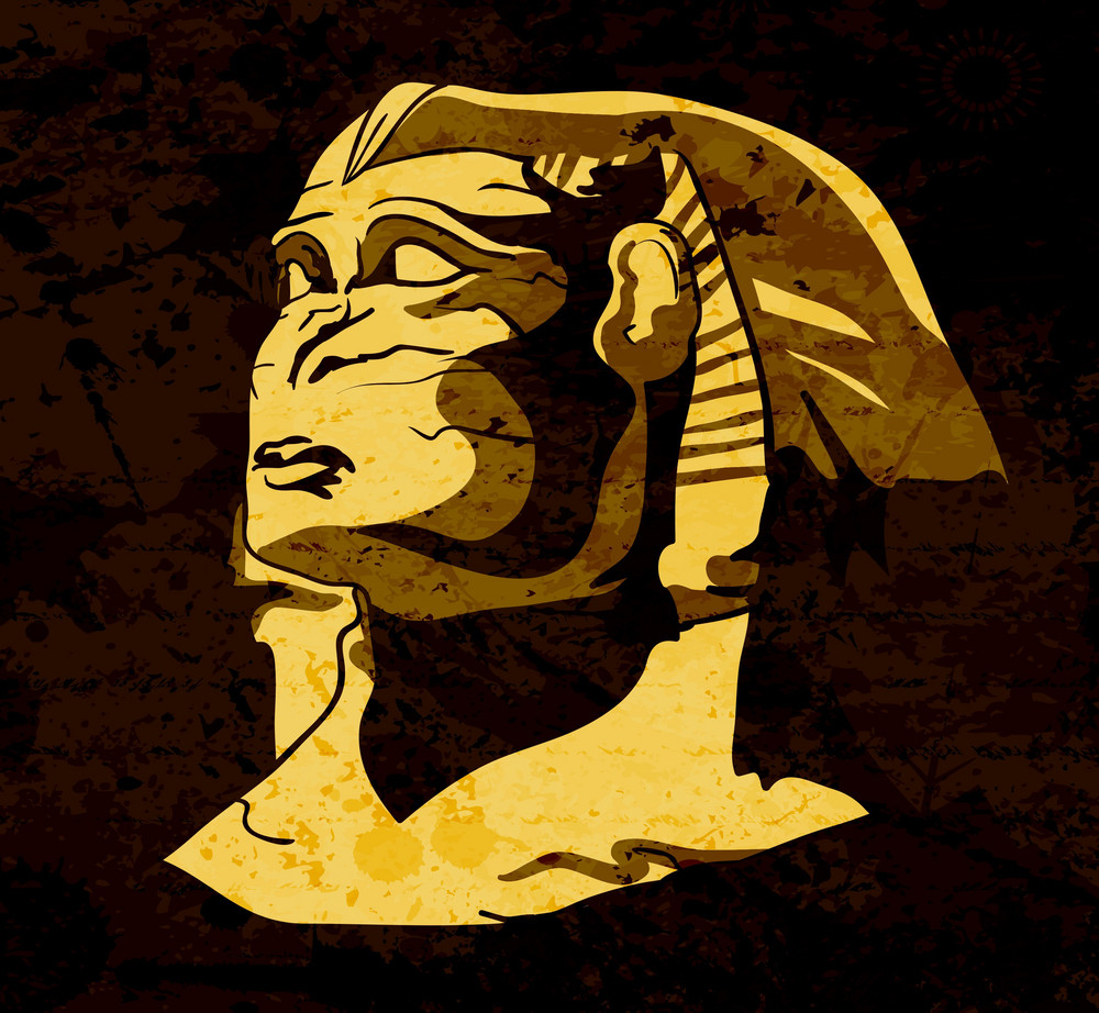 Grunge Sphinx Vector Illustration