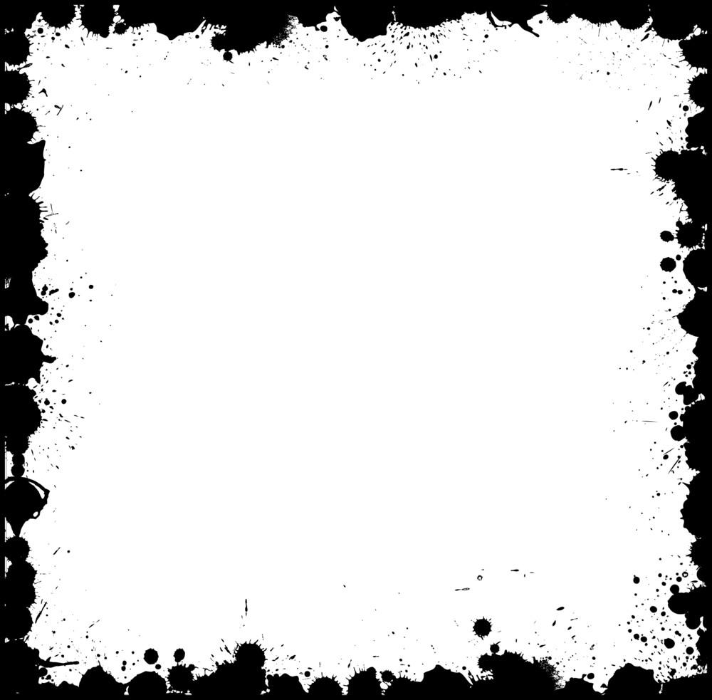 Grunge Splash Frame