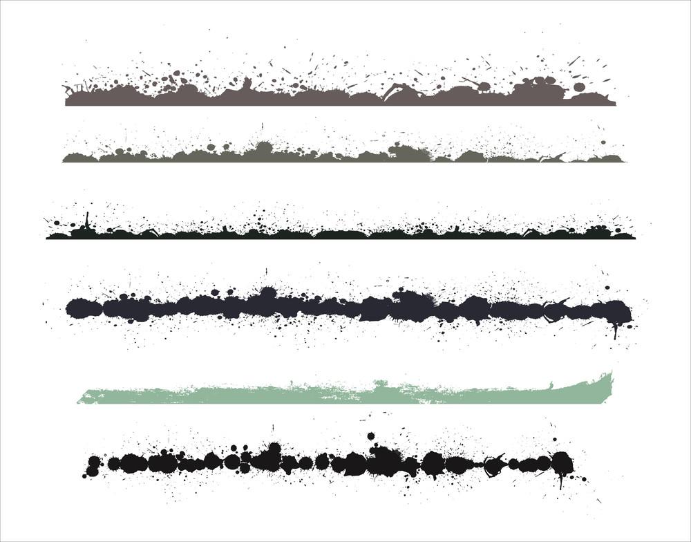 Grunge Splashes Vector Elements