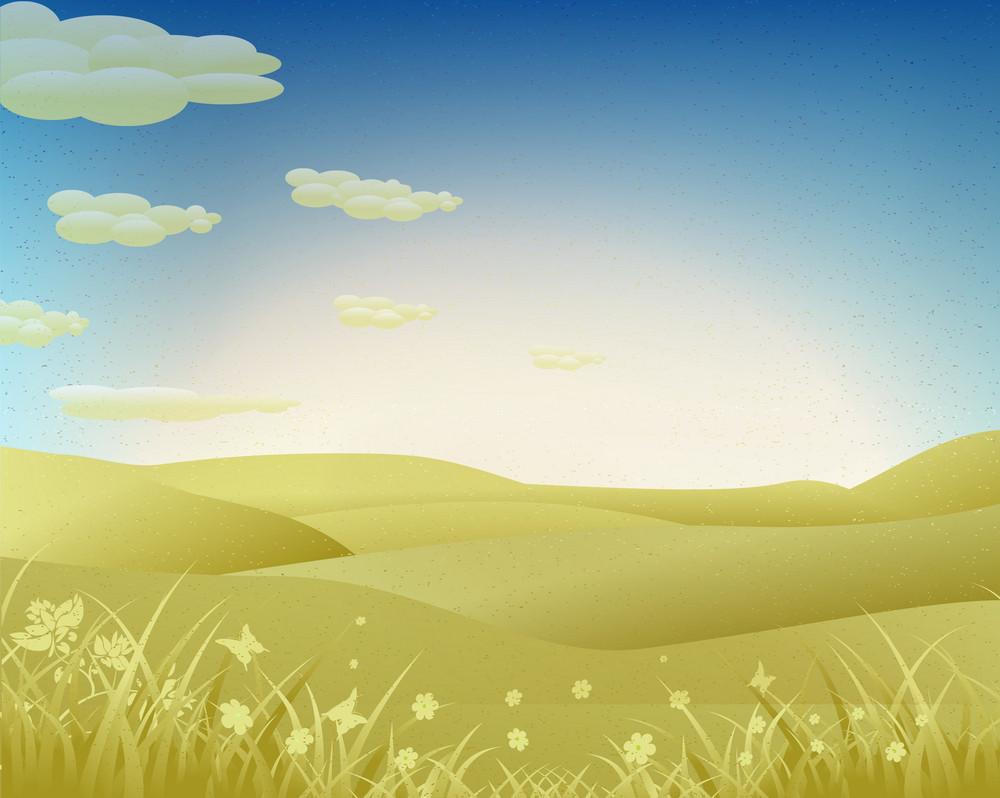 Grunge Spring Background Vector Illustration