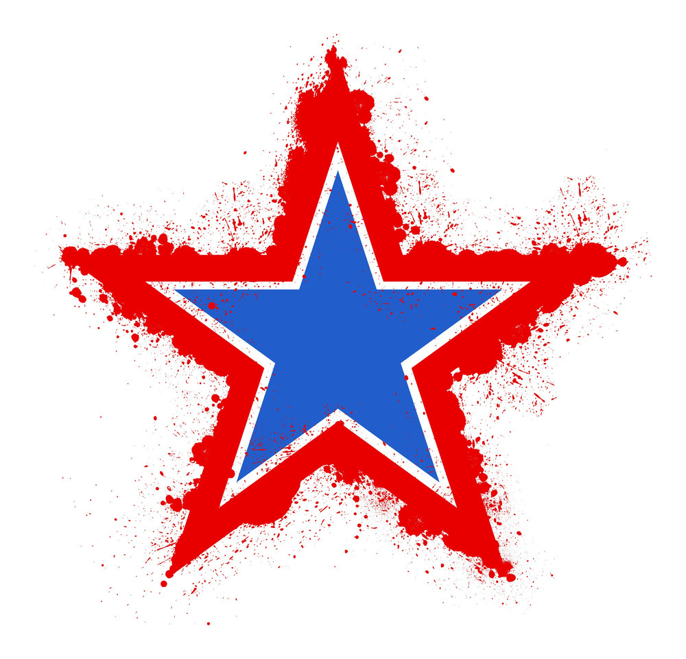 Grunge Star 4th Of July Vector Theme Design