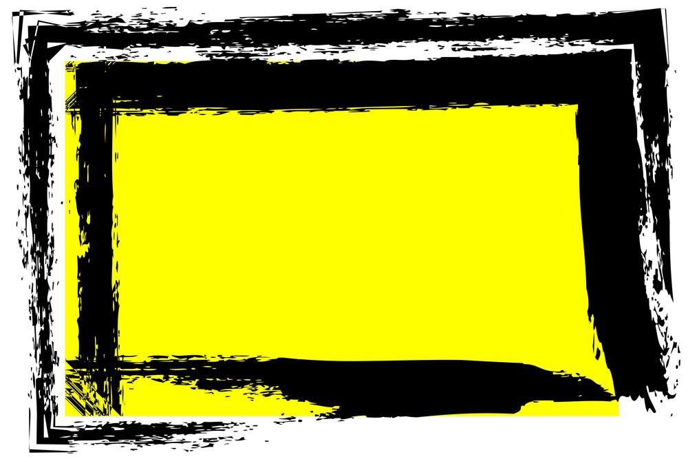Grunge Stroke Frame Banner Vector