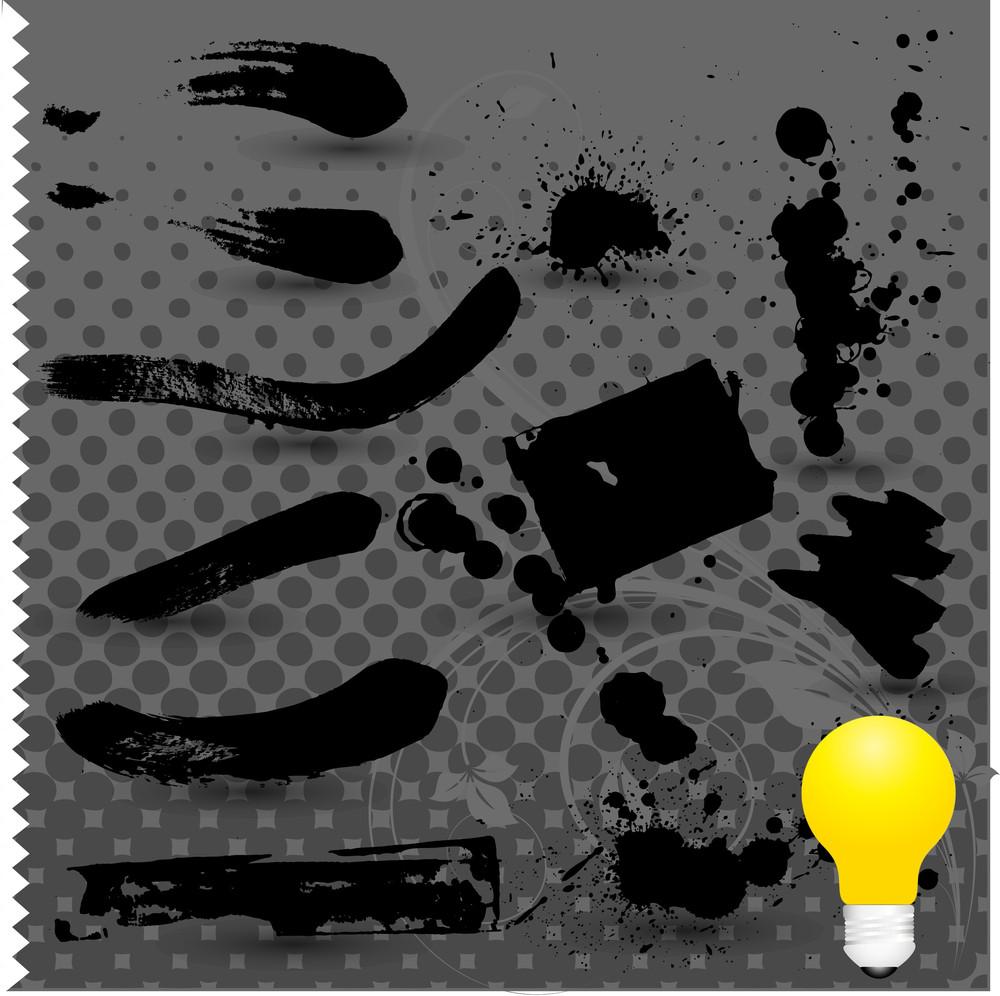 Grunge Strokes Vector Elements