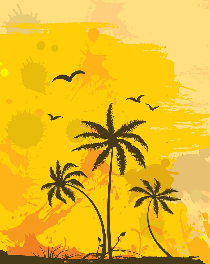Grunge Summer Background Vector Illustration