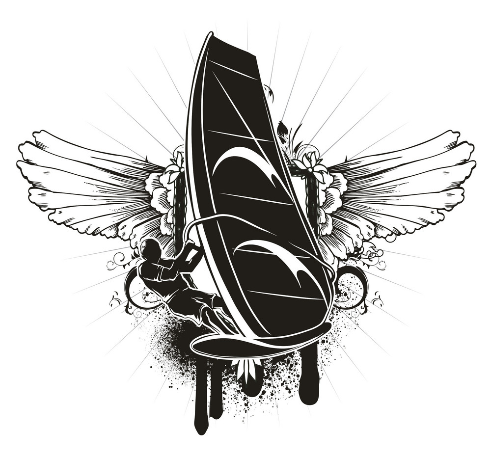 Grunge Summer Emblem Vector Illustration