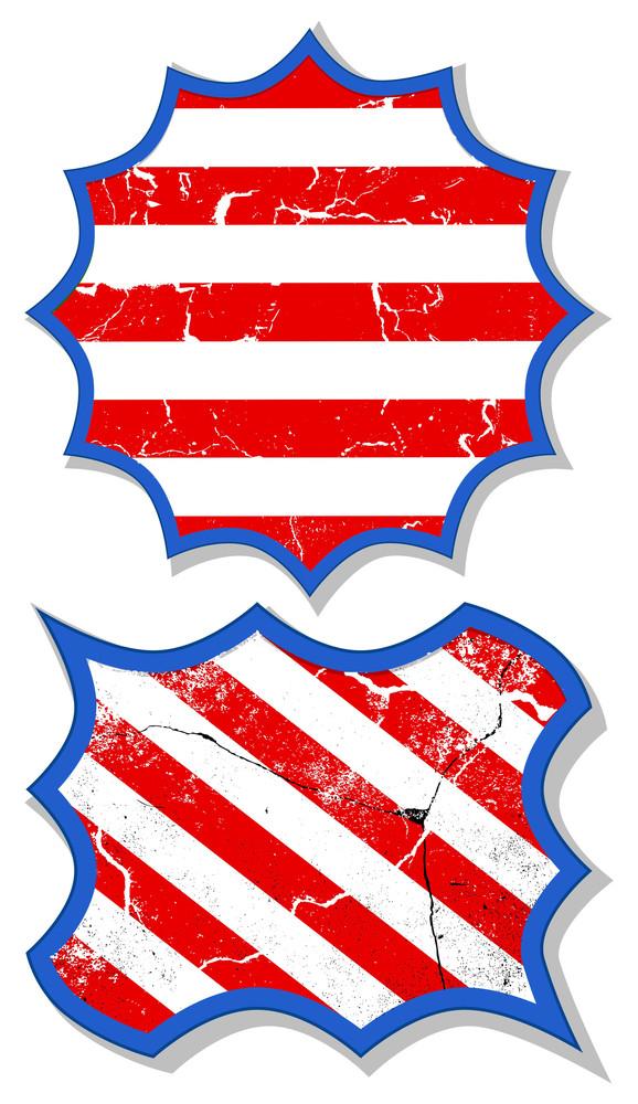 Grunge Tag Frames Patriotic Usa Theme Vector