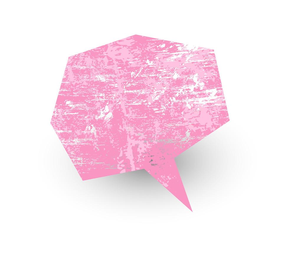 Grunge Talk Bubble Vector
