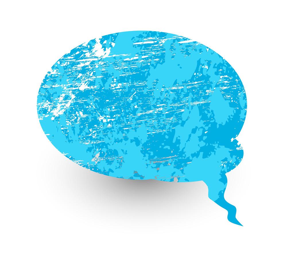Grunge Talk Bubble