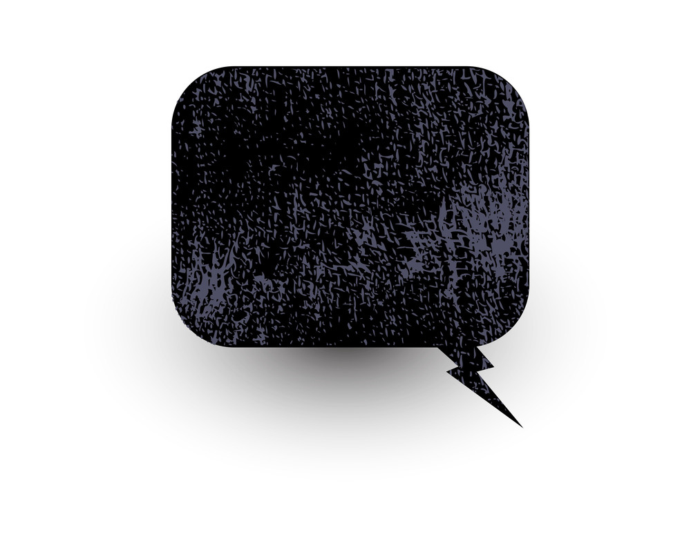Grunge Textrure Banner Chat Bubble