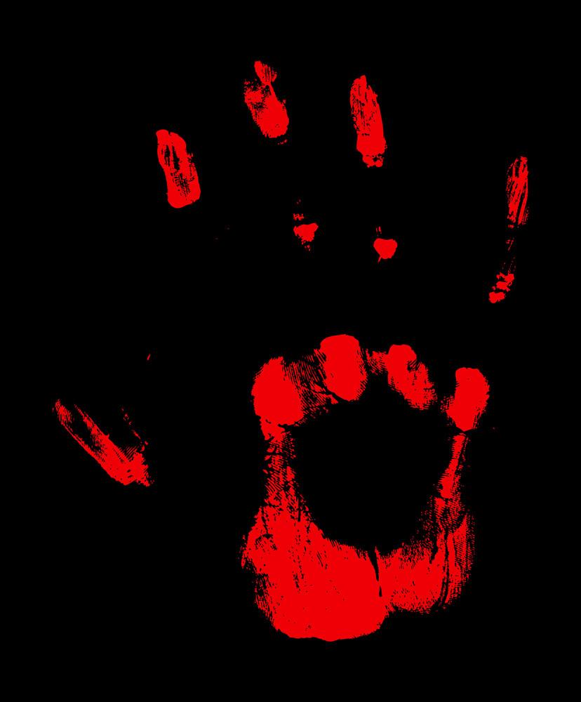 Grunge Texture Hand Print Vector