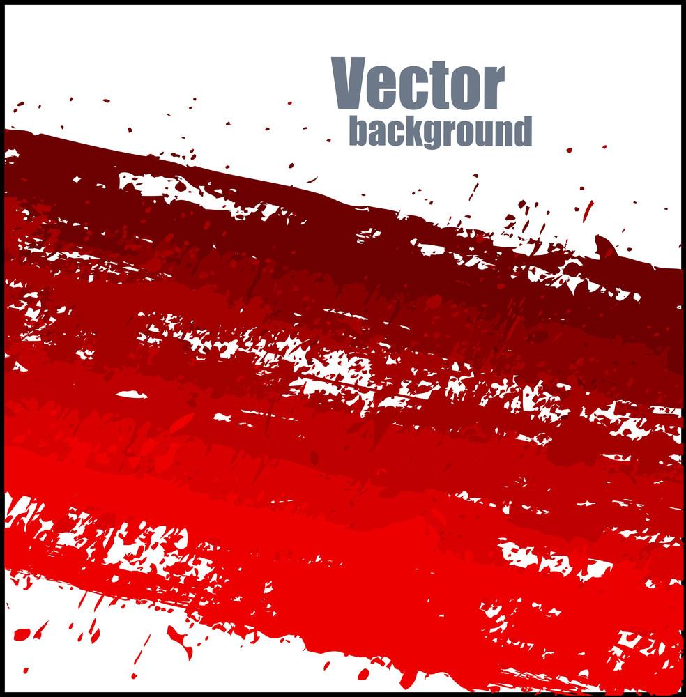 Grunge Texture Red Paint Splash Vector Banner