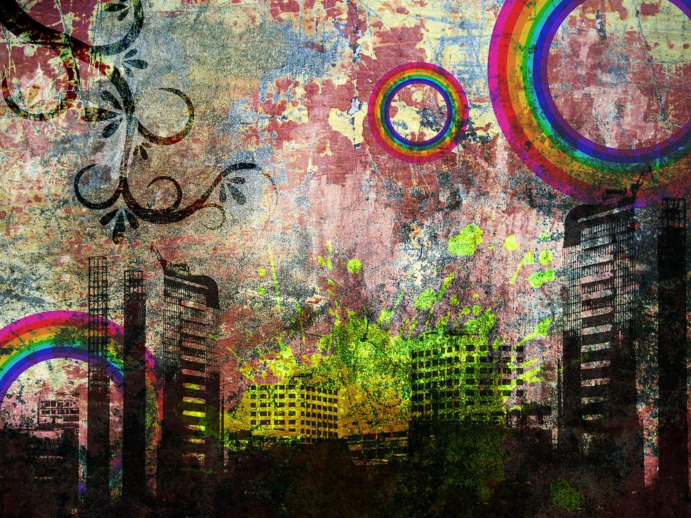 Grunge Urban City Background
