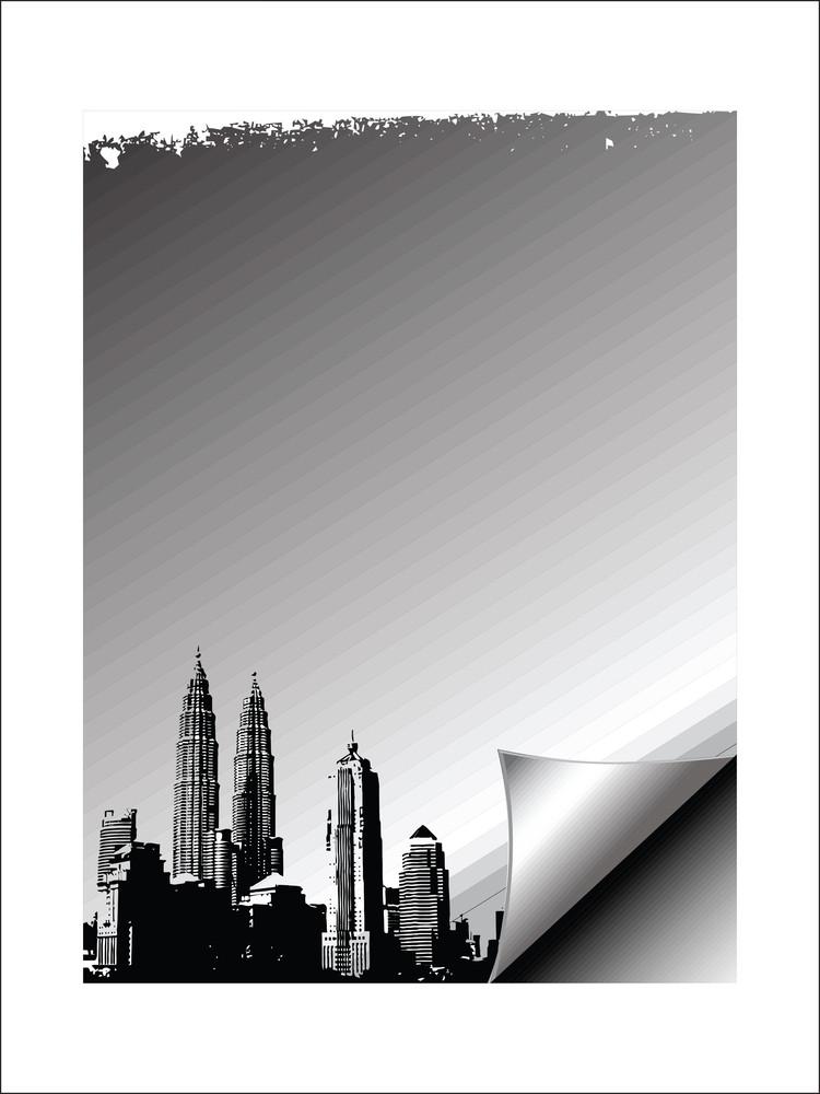Grunge Urban City Vector Illustration