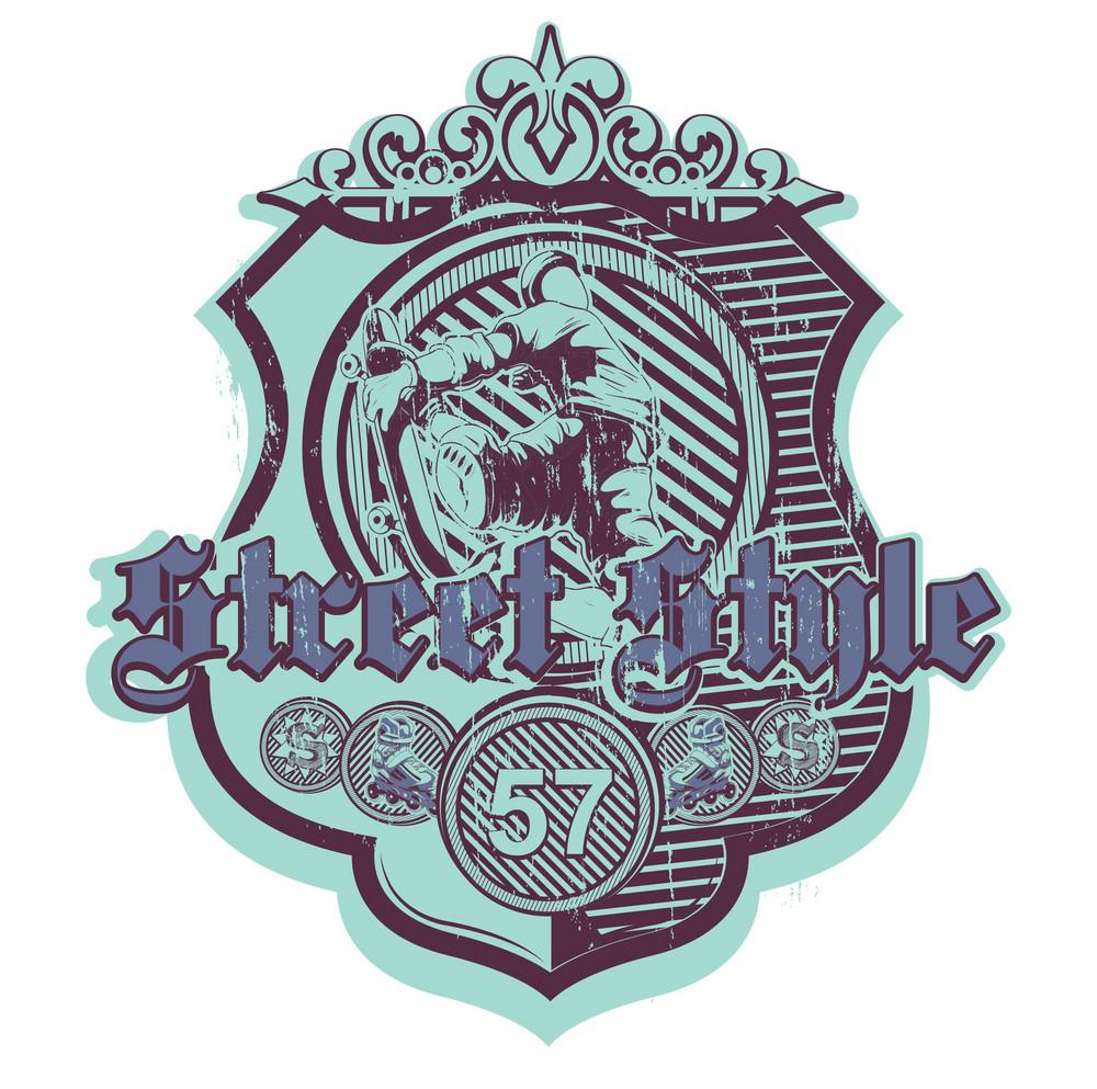 Grunge Urban Label Vector Illustration