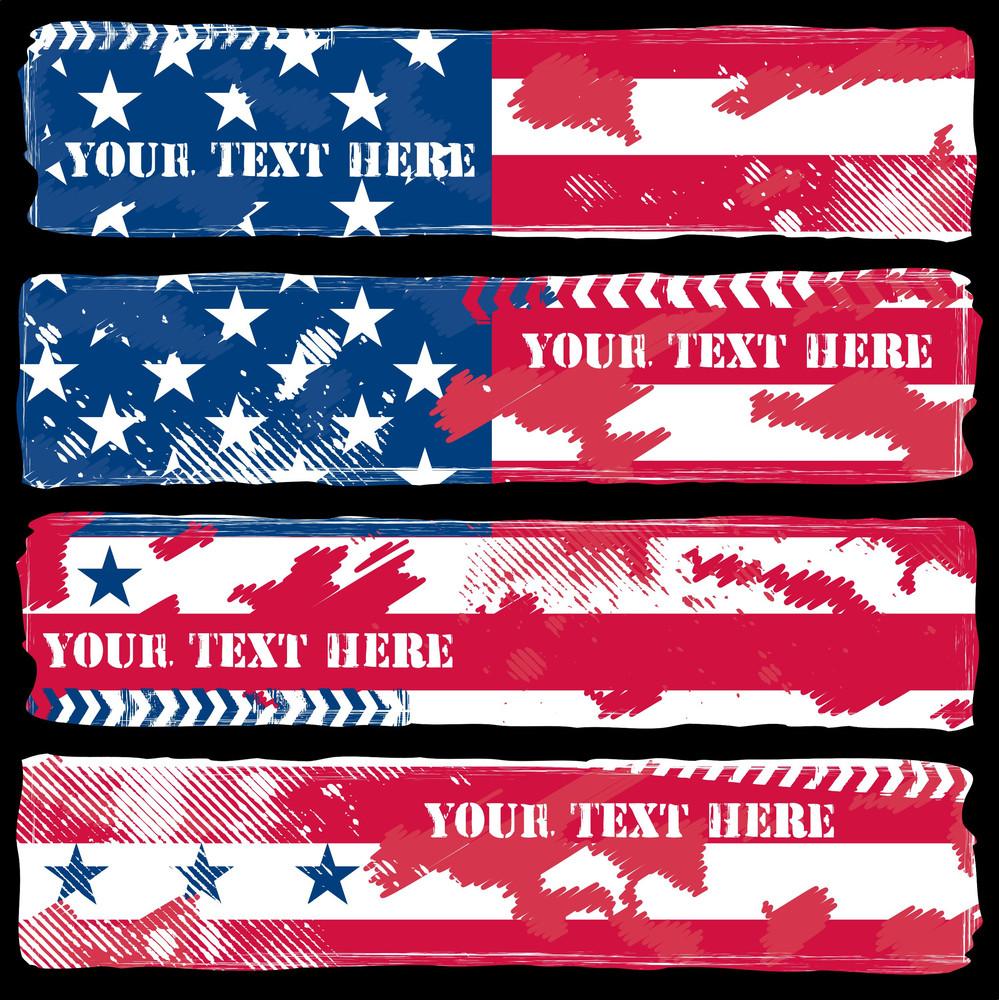 Grunge Usa Theme Banners