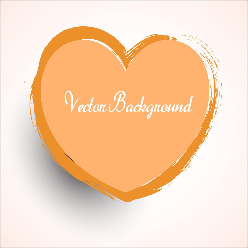 Grunge Valentine Heart Vector Shape