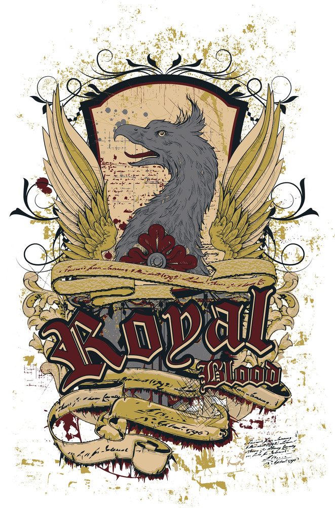 Grunge Vector T-shirt Design With Griffin
