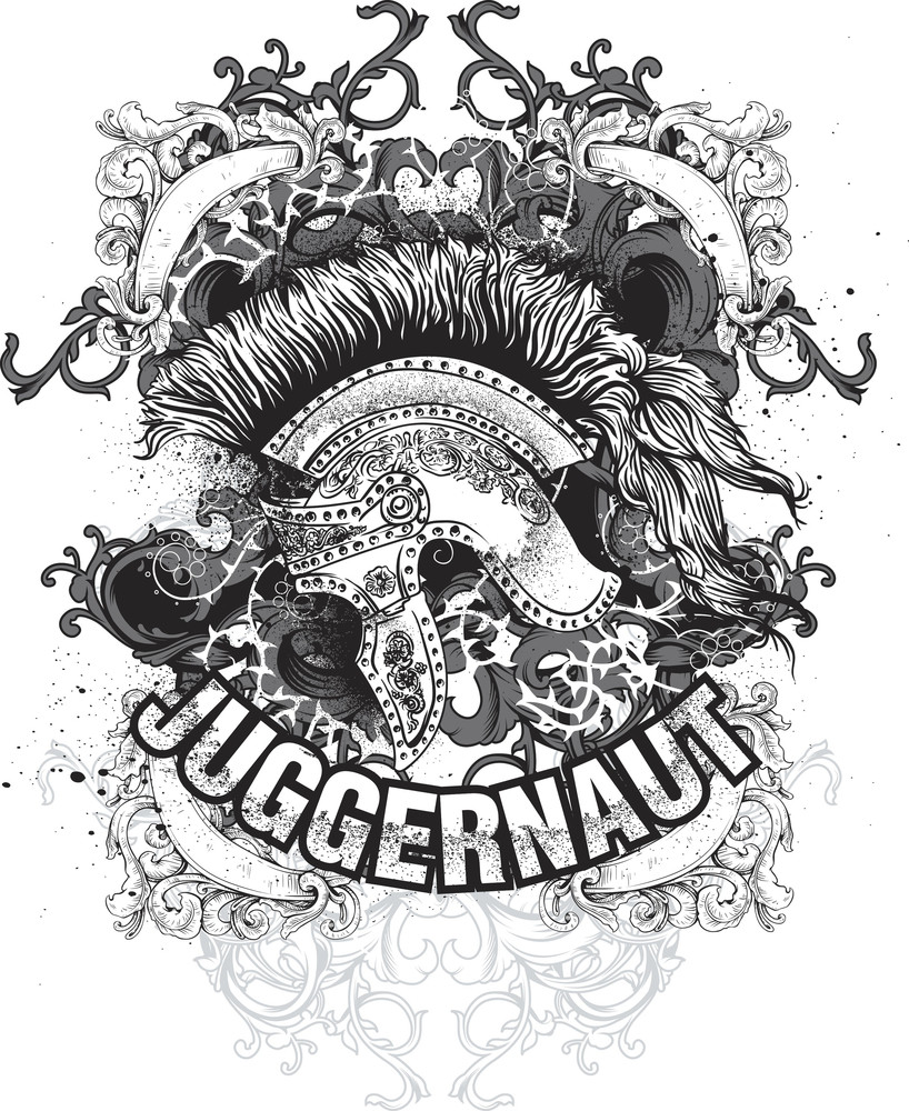 Grunge Vector T-shirt Design With Helmet