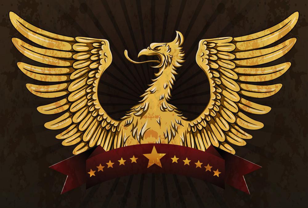 Grunge Vintage Emblem Vector Illustration