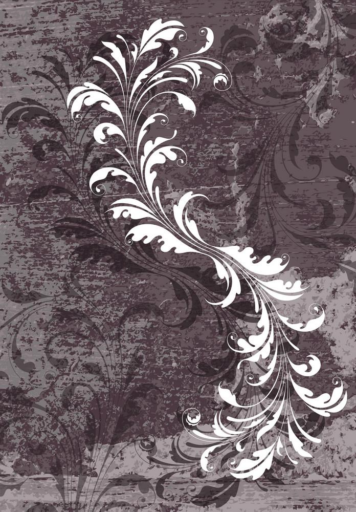 Grunge Vintage Floral Background Vector Illustration