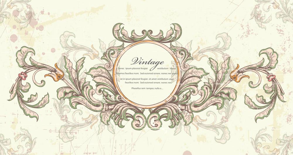 Grunge Vintage Frame Vector Illustration