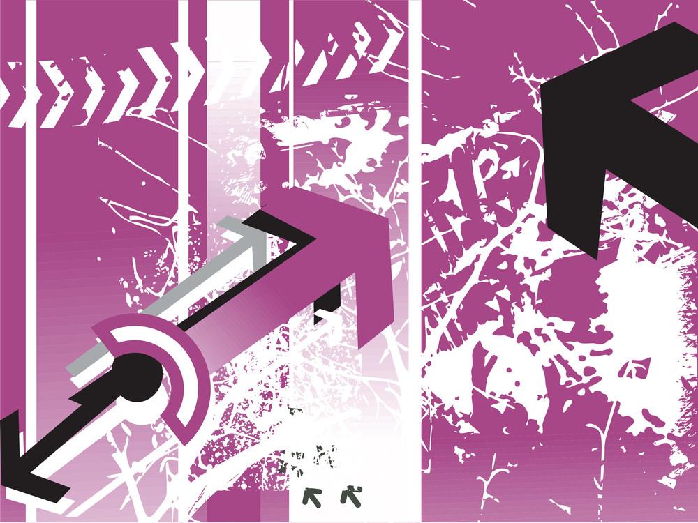 Grunge Wallpaper Of Arrow Concept