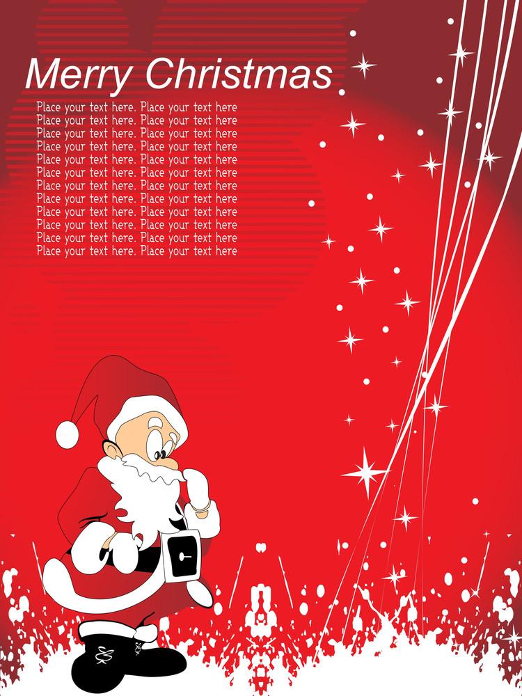 Grunge With Santa Claus