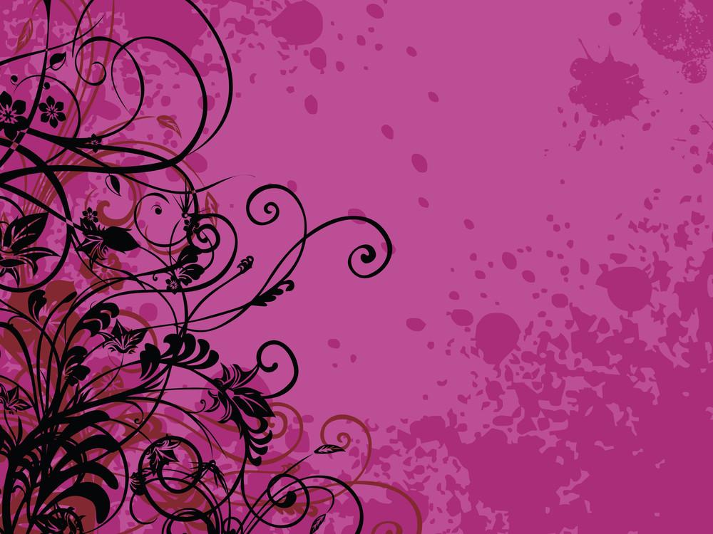 Grunge With Swirl Design