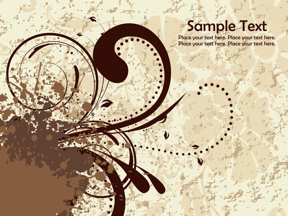 Grunge With Swirls Pattern
